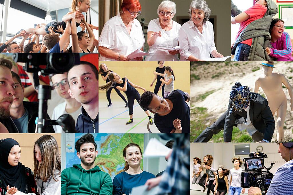 Collage StadtRecherchen Workshops